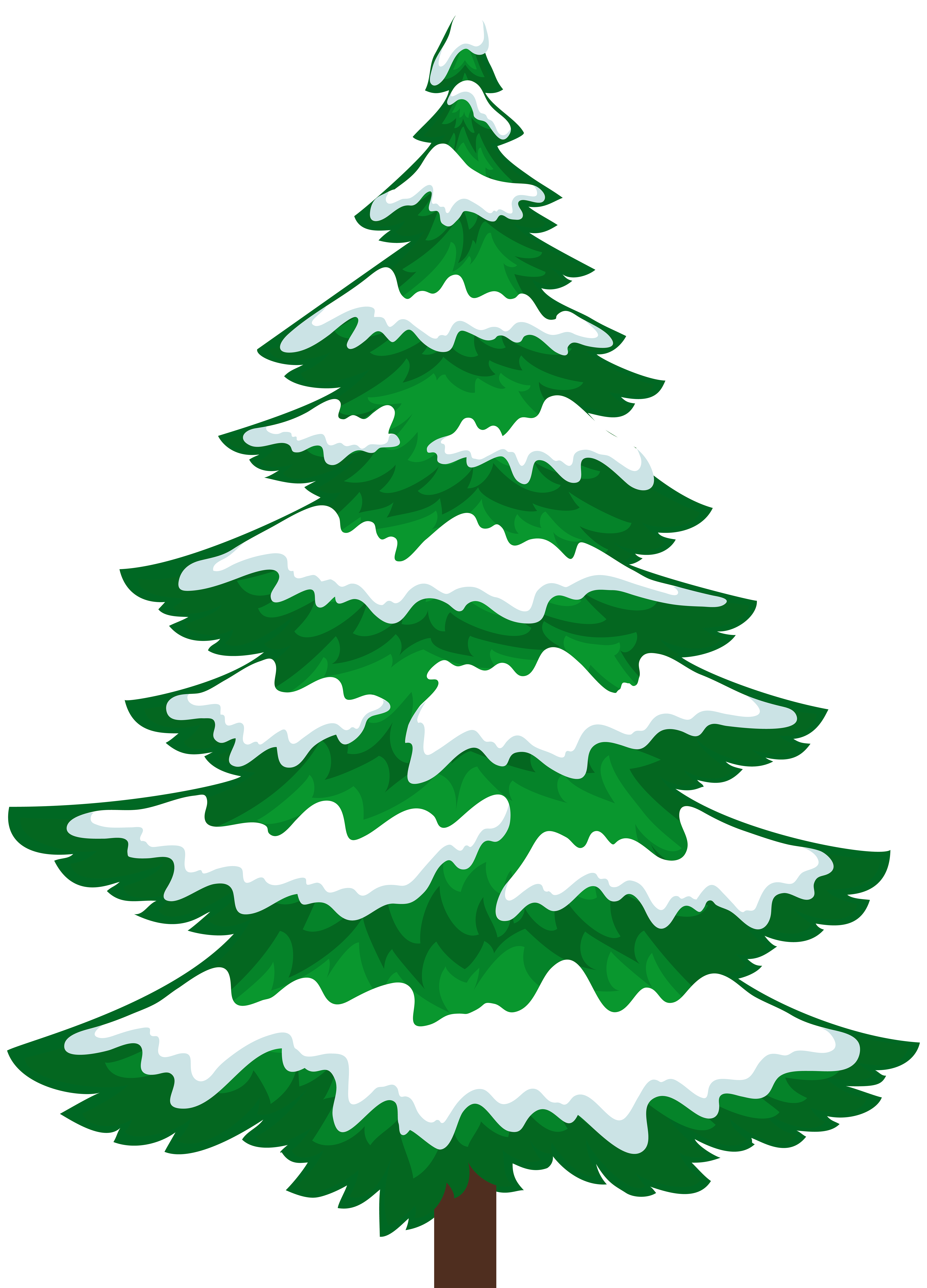 Clipart trees pine. Tree with snow transparent