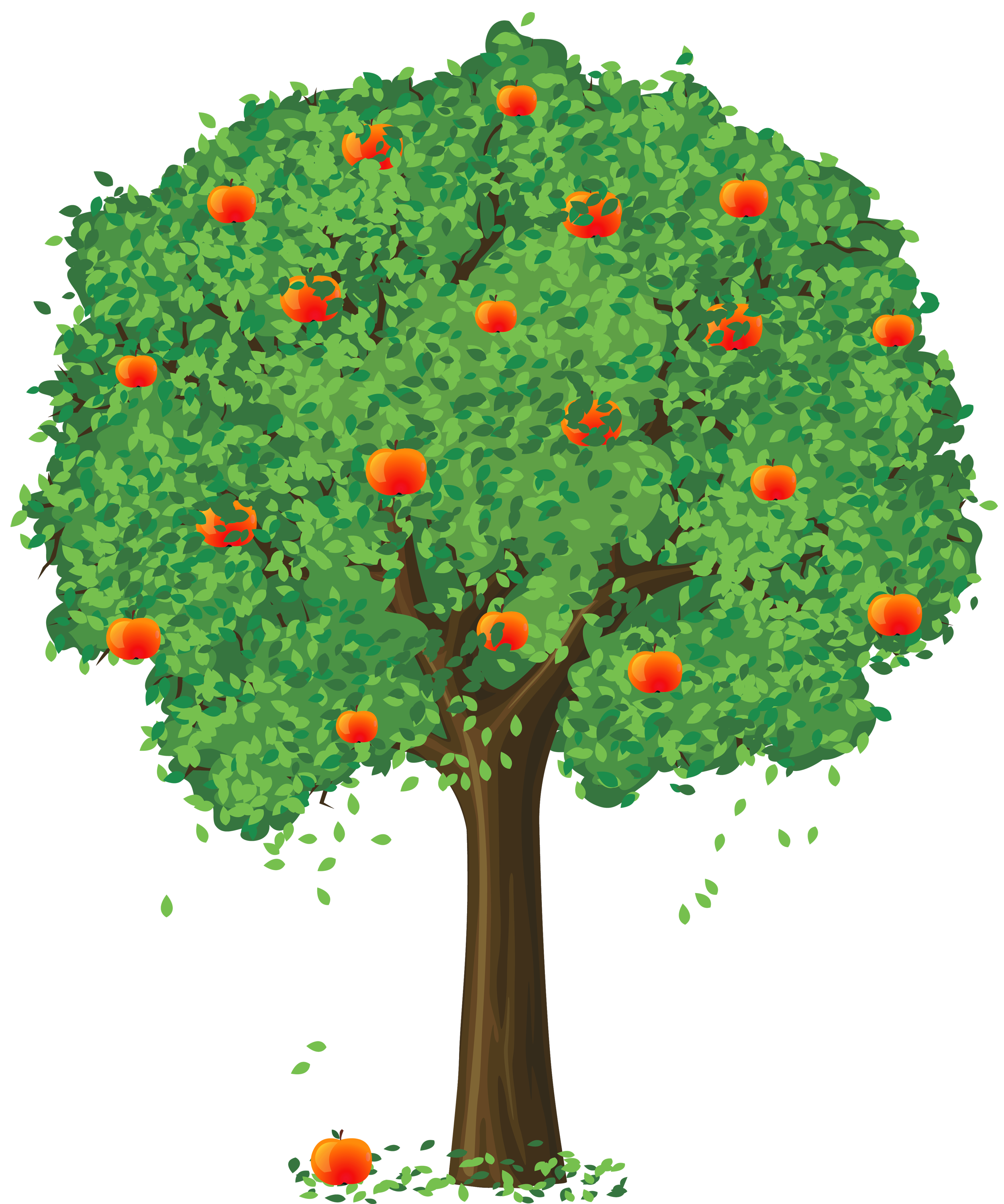 Trees background . Clipart rose apple tree