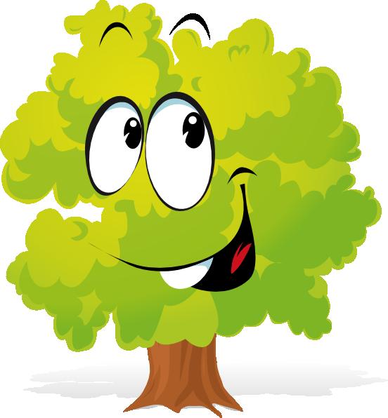 Tree clipart cartoon. Happy plant