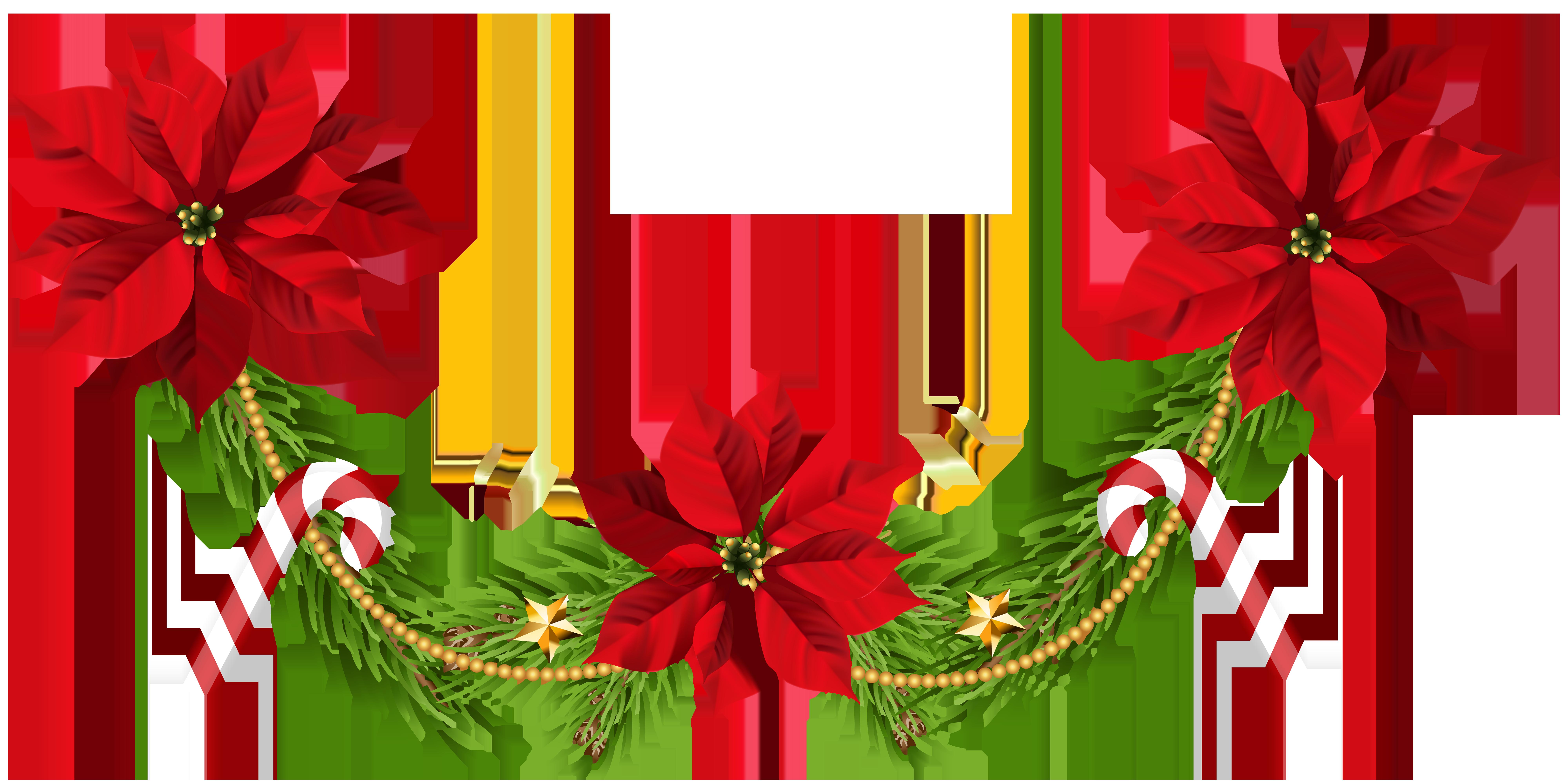 Christmas poinsettias clip art. Garland clipart poinsettia
