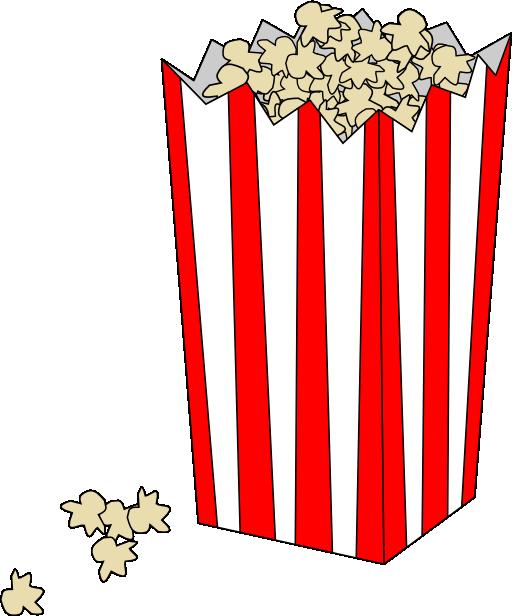 Clipart trees popcorn. Movie bag i royalty