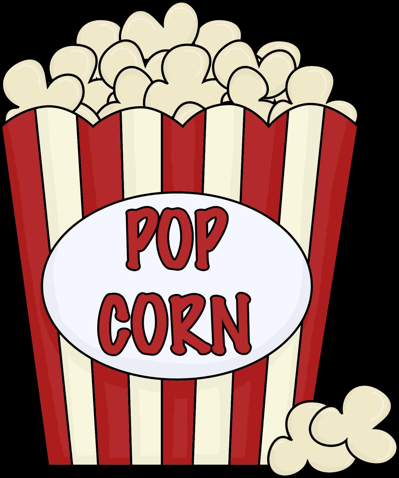 Clipart free popcorn. Clip art black and