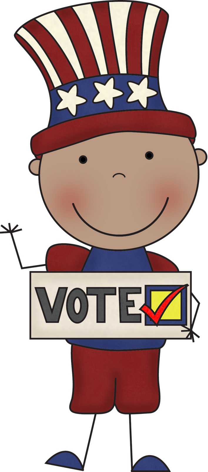 collection of day. President clipart election ballot