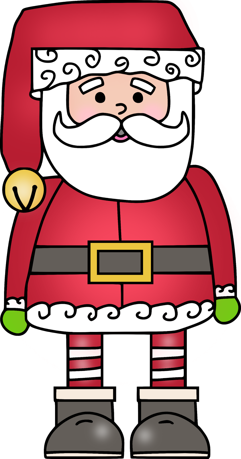 Clipart free santa. Kindergartenklub com pinterest
