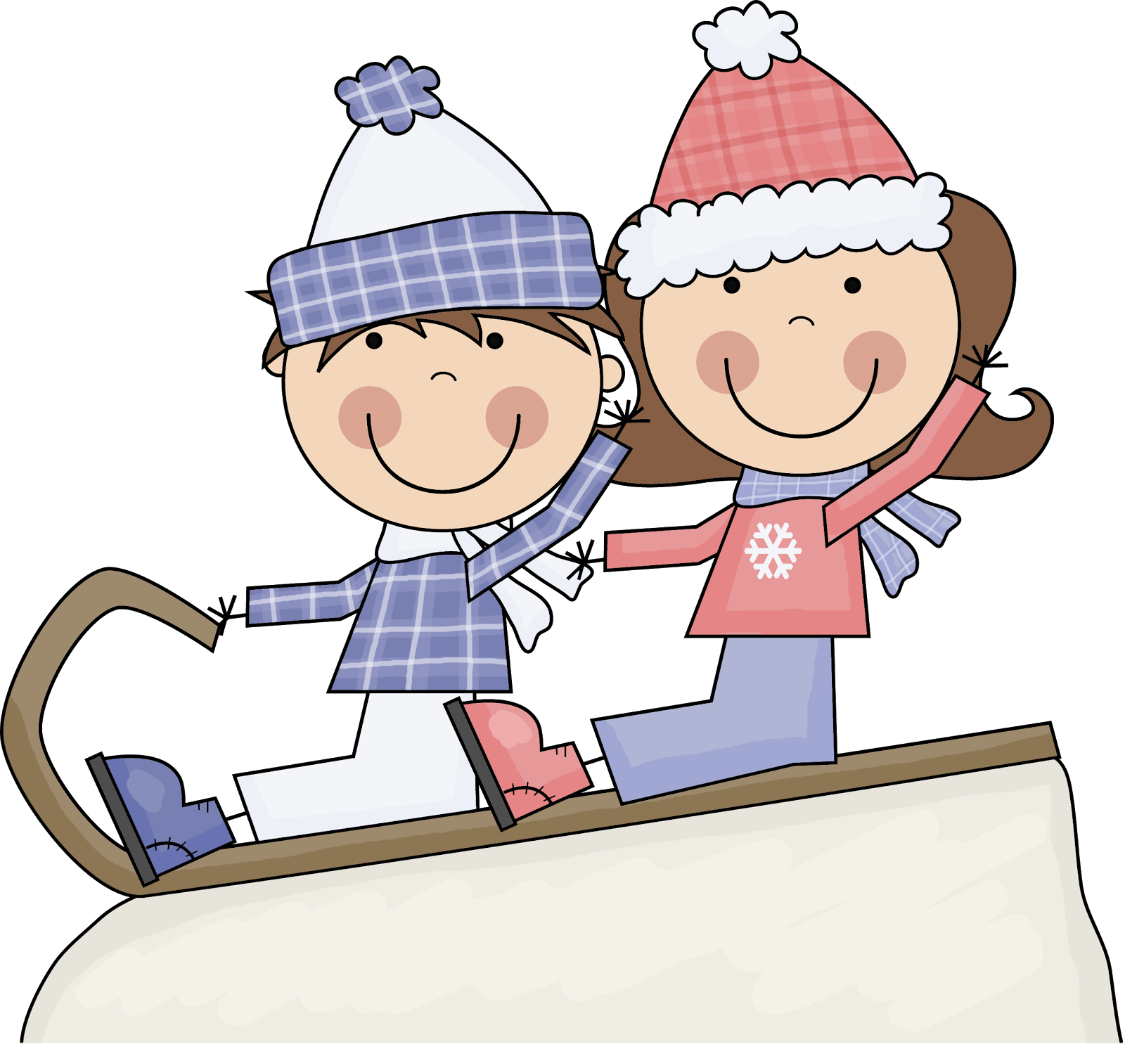 Big collection of free. Sleigh clipart snow sled