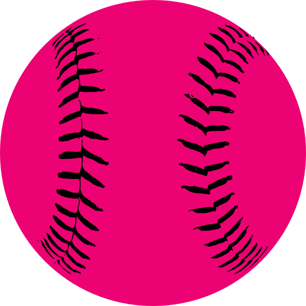 Pink hi free images. Softball clipart heart