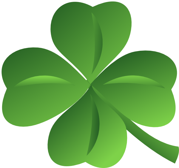 Clipart free st patricks day. Four leaf clover and