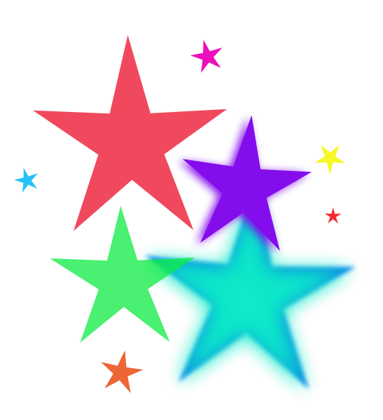 Shell clipart colorful. Rainbow stars free images