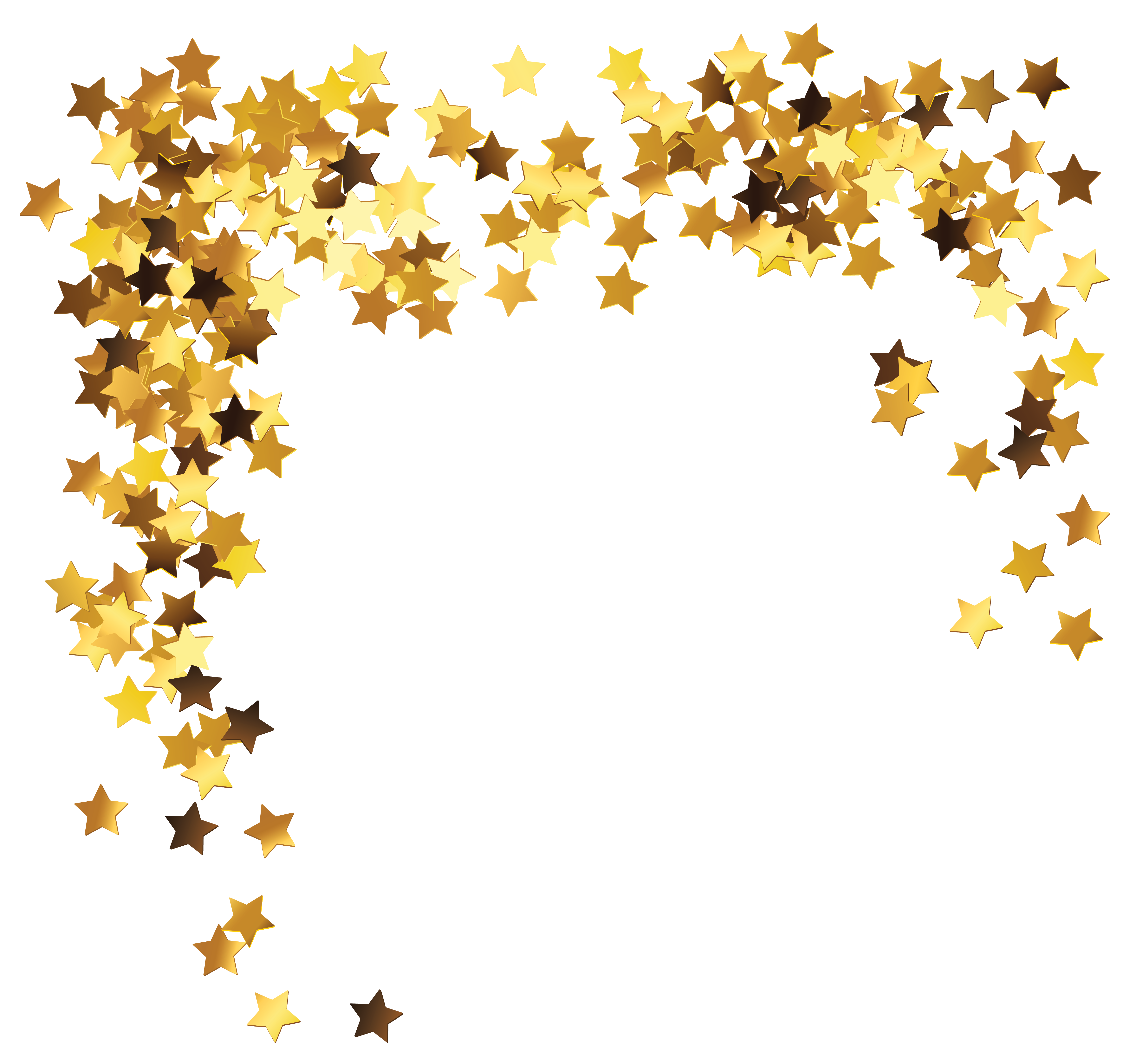 Stars border png. Gold decoration clipart picture