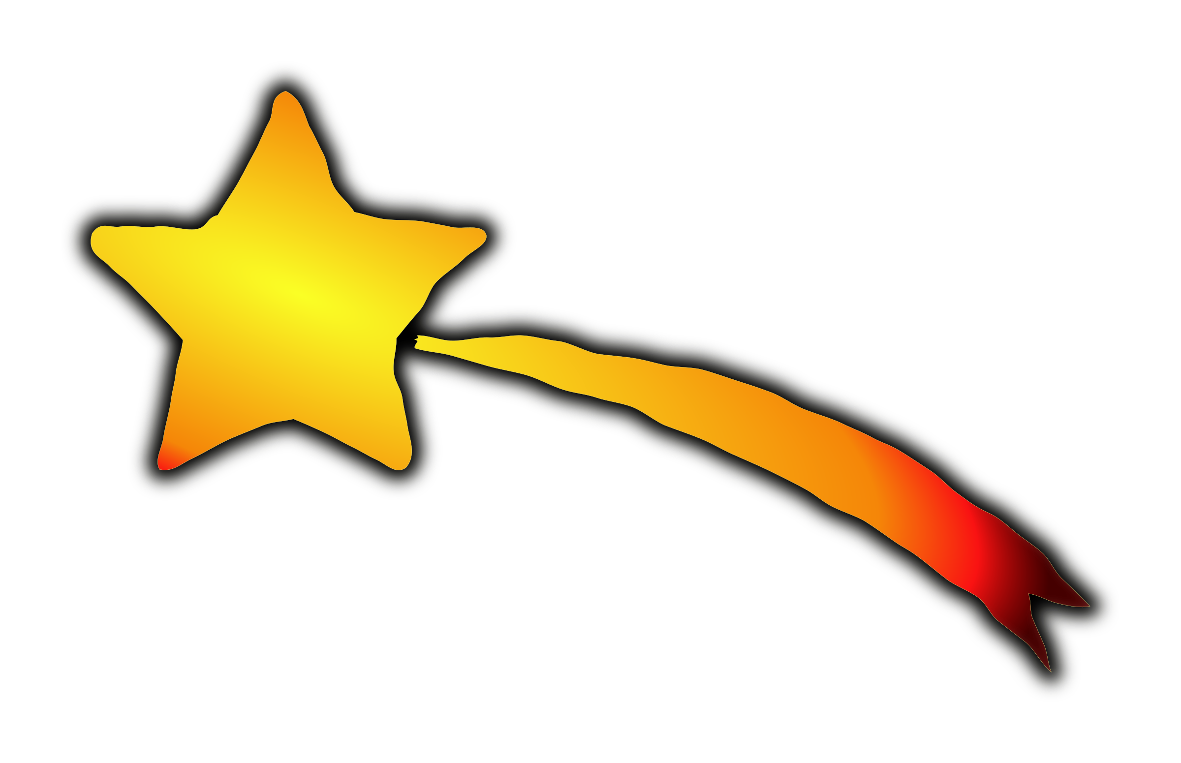 Clipart star meteor. Space falling free collection