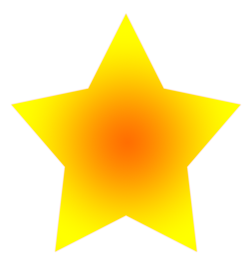 Simple star orange yellow. Clipart stars pencil