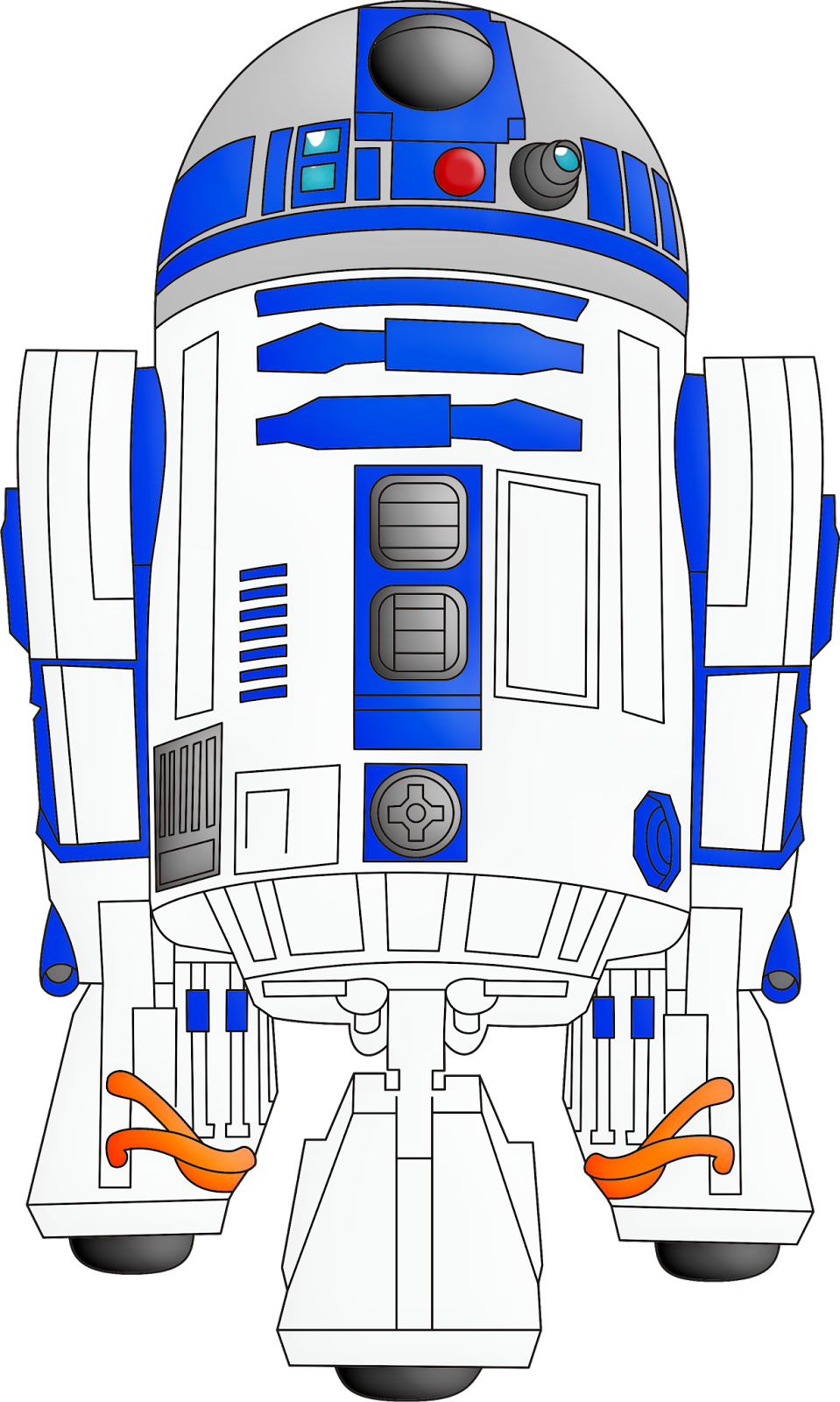 Starwars clipart r2d2.  collection of star