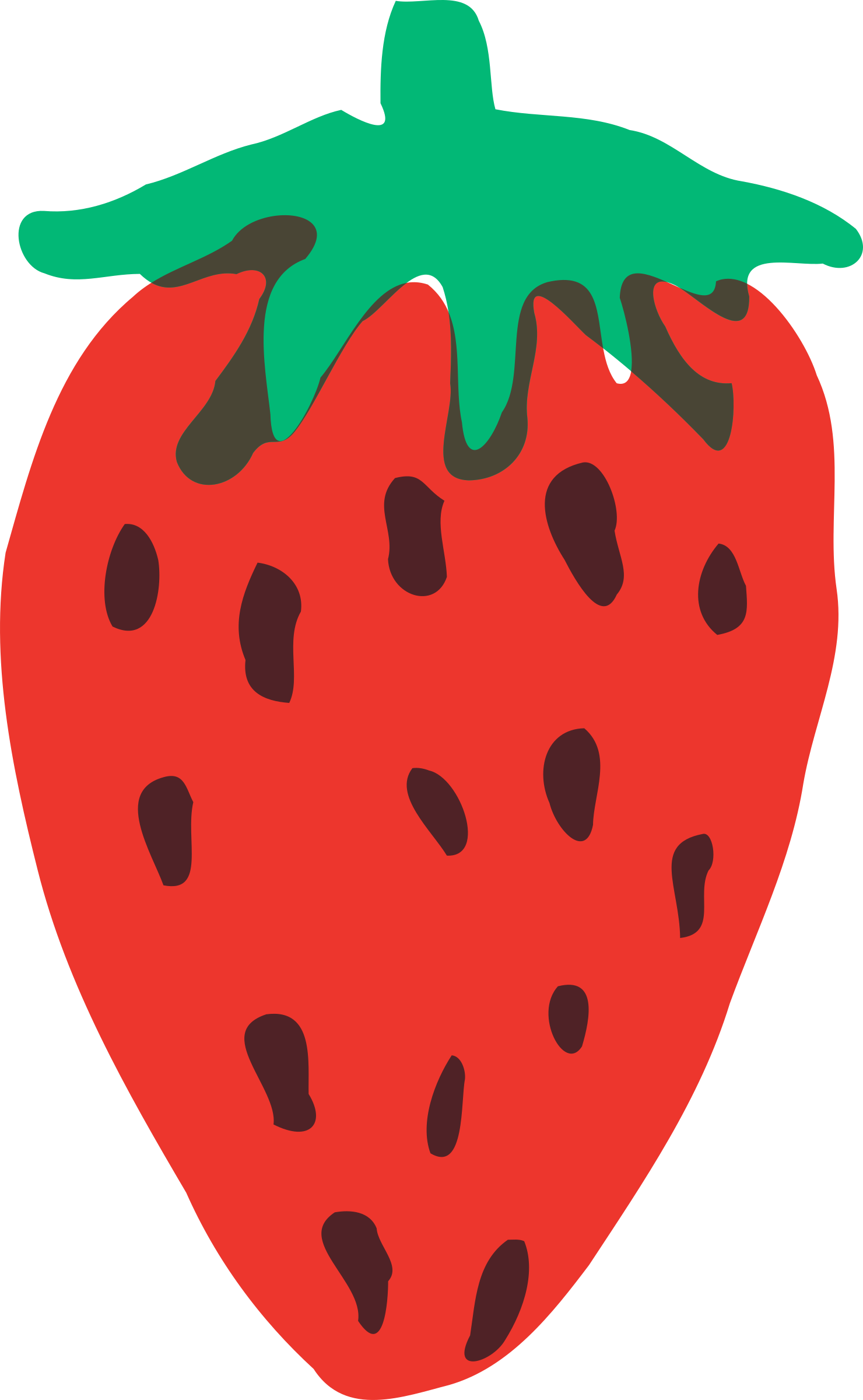 Strawberries clipart heart. Strawberry