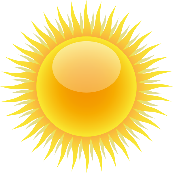 Sunny clipart partly. Free rising sun download