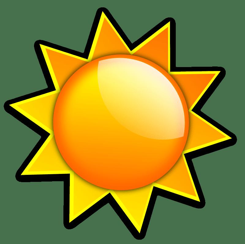 Free clip art to. Clipart sun orange