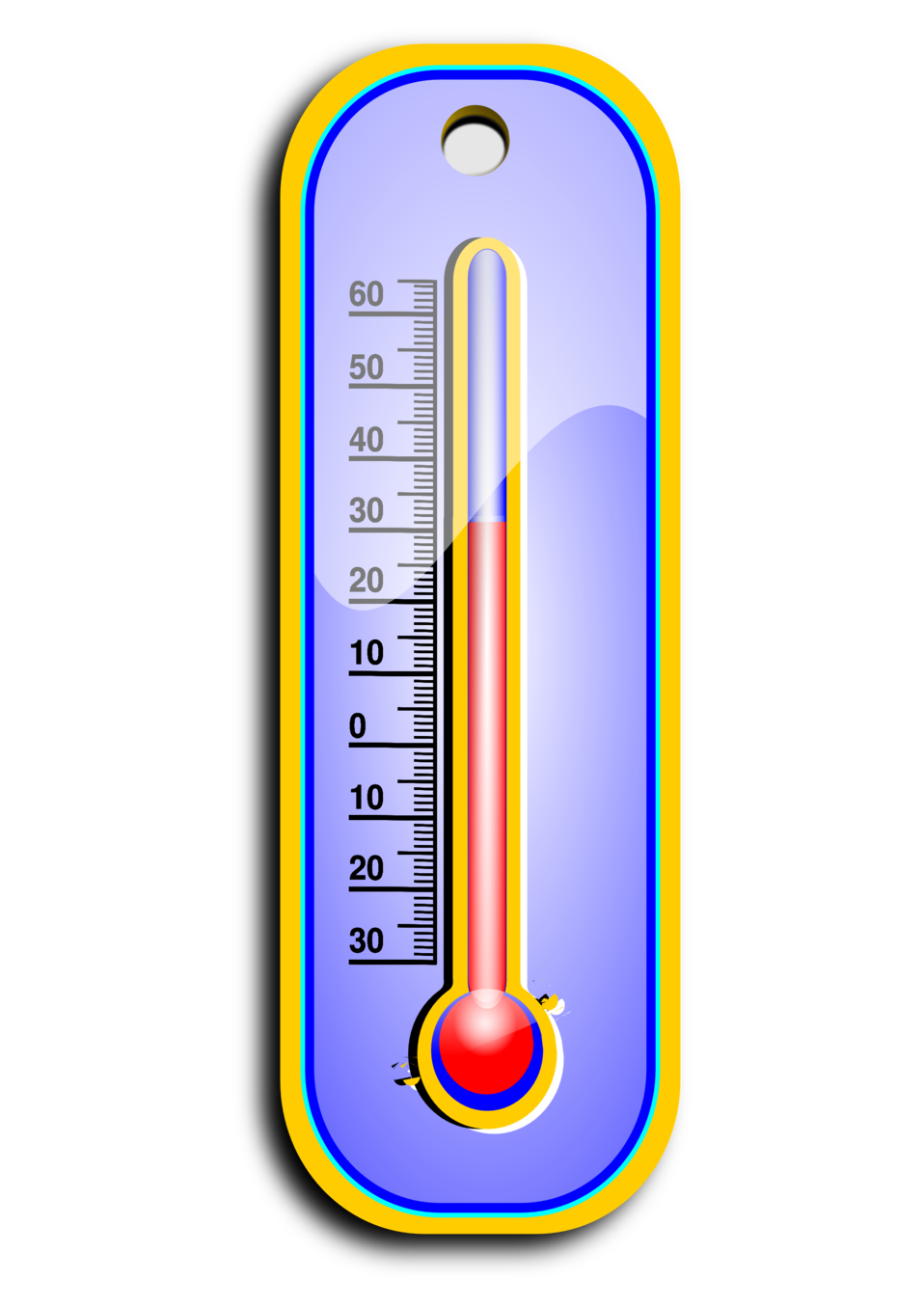 Clipart thermometer simple thermometer. Public domain clip art