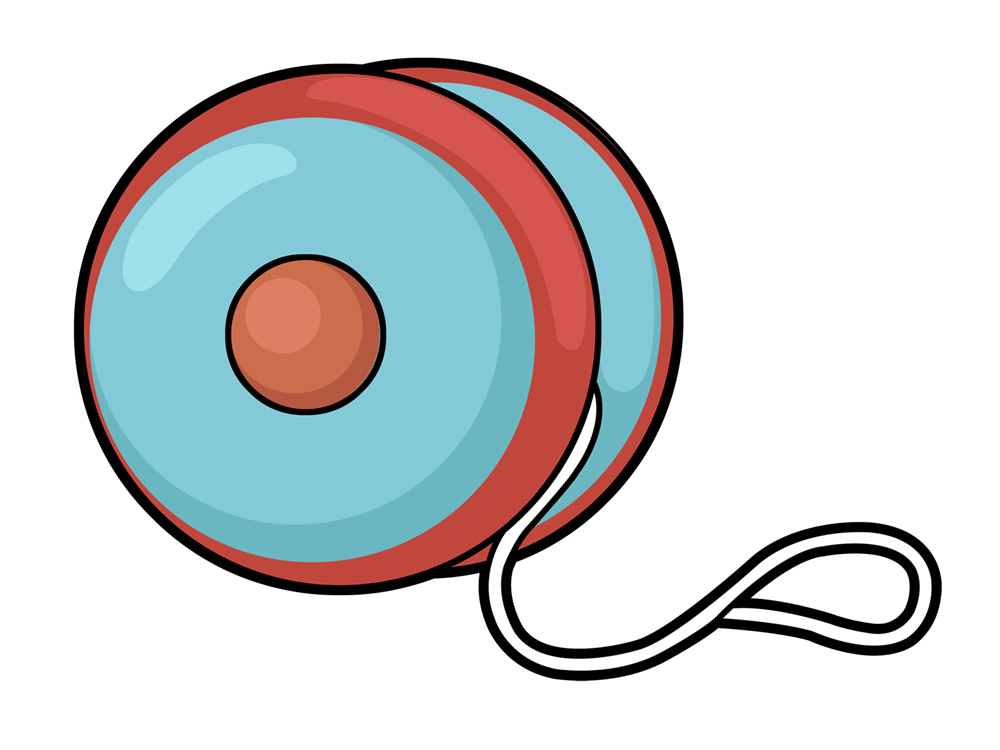 Yoyo pencil and in. Color clipart toy