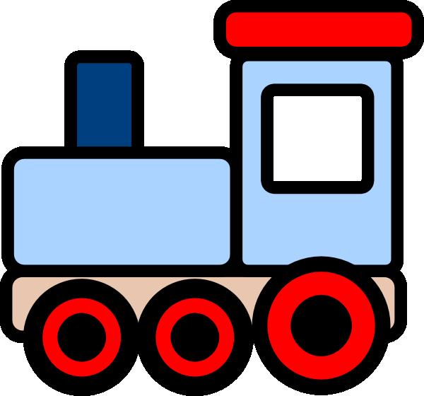 Little blue clip art. Clipart kids train