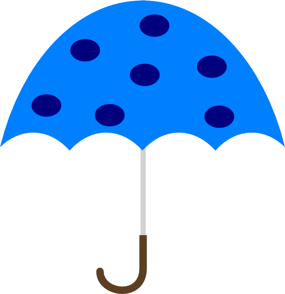 Clipart umbrella vector. Polka dot clip art
