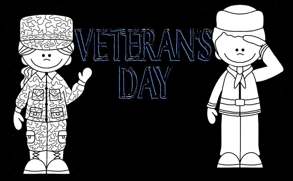 Veterans day clip art. Organized clipart black and white