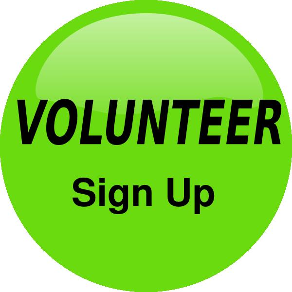 Volunteer sign up button. Volunteering clipart logo