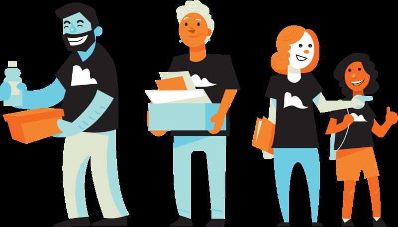 collection of volunteer. Volunteering clipart logo