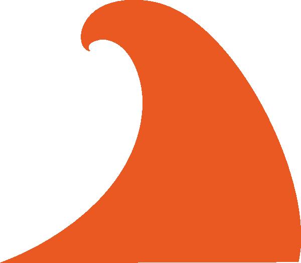Clipart wave large wave. Oranger clip art at