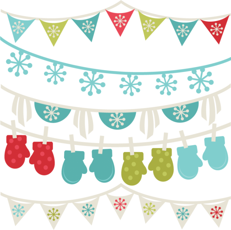 Free borders banners svg. Winter clipart letter