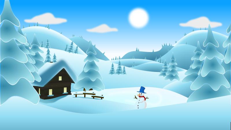 Free snow cliparts download. Winter clipart scene