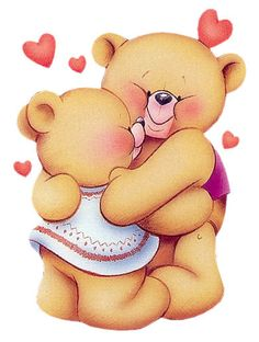 Best wishes from forever. Hugging clipart teddy bear