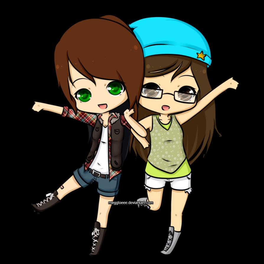 Best friends by meggtoeee. Person clipart friend