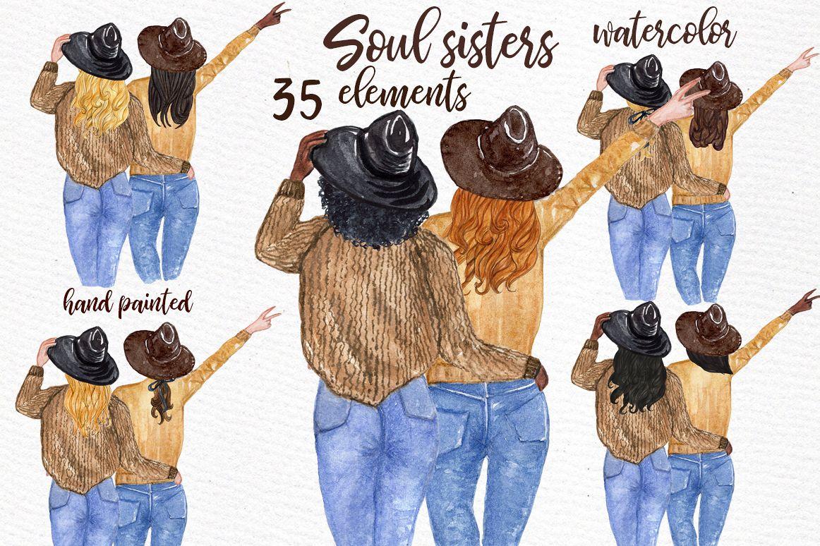 Best friends soul sisters. Friendship clipart bff