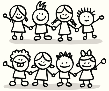 Friendship clipart black and white. Free friends group cliparts