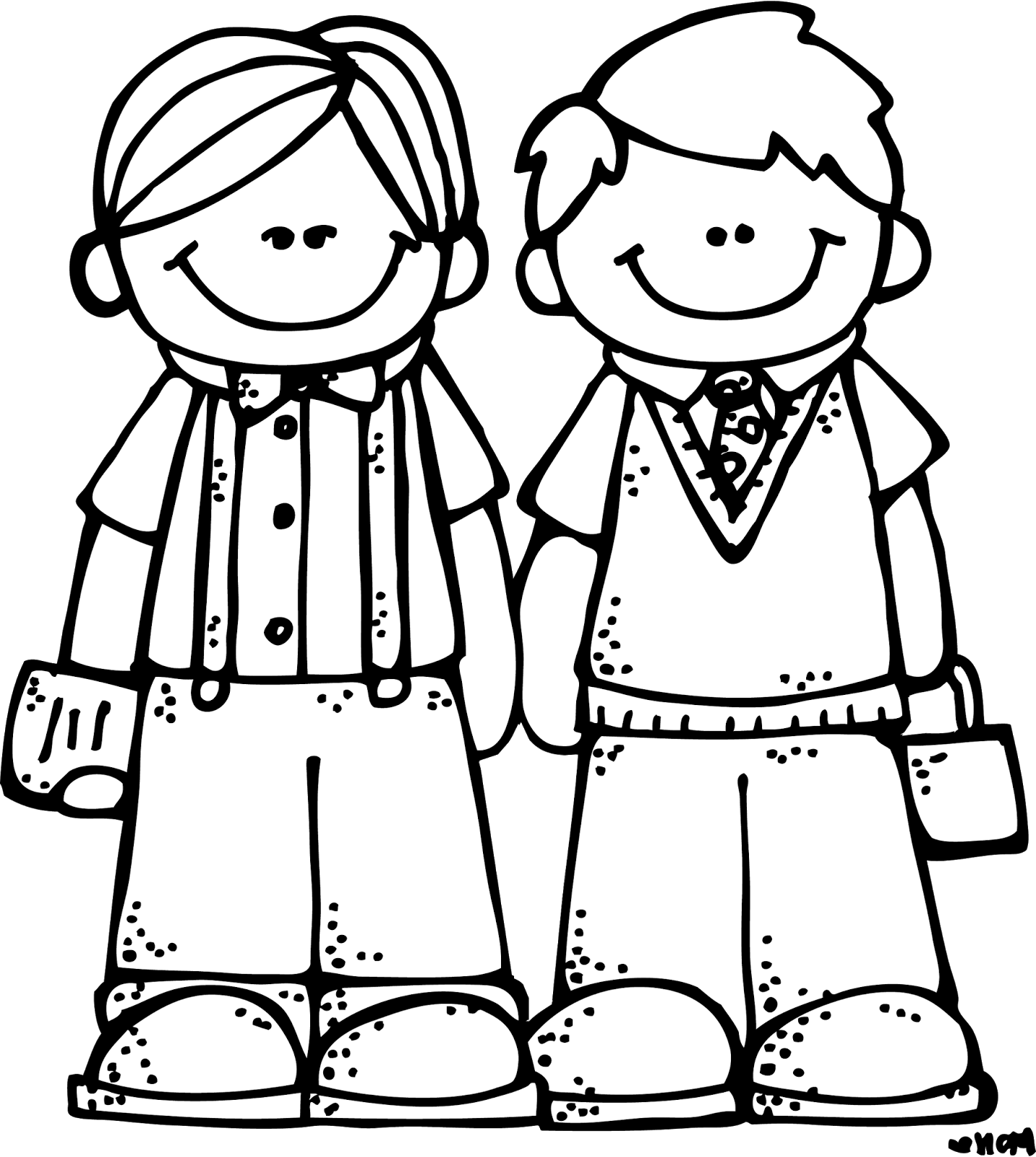 Friendship black and white. Lds clipart prayer