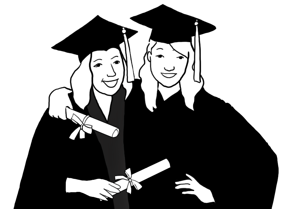 Good clipart graduation. Free graphics two friends