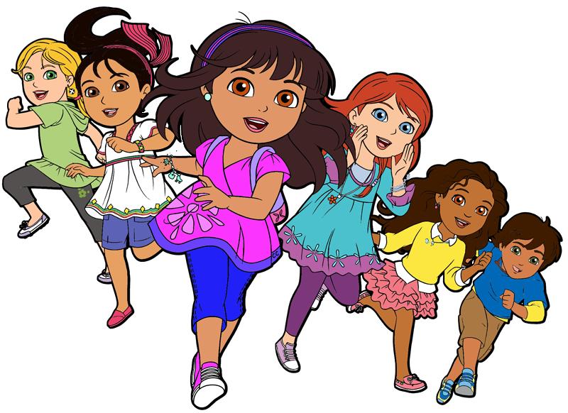 Dora and friends cartoon. Clipart png friend