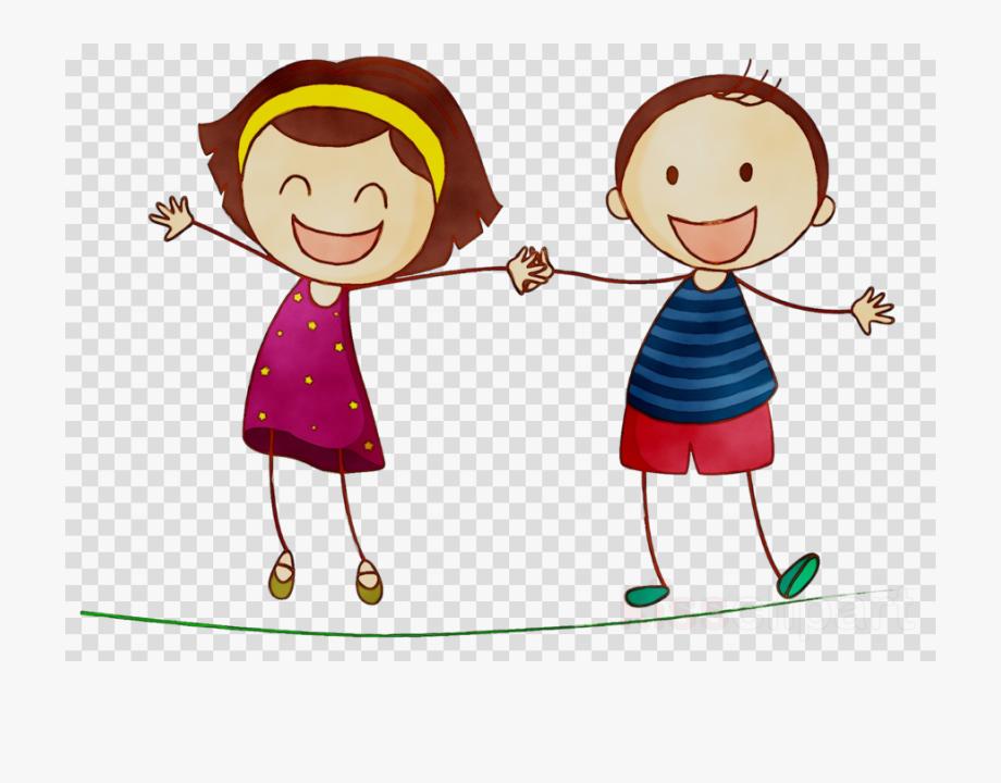 Boy and girl friends. Friend clipart cartoon