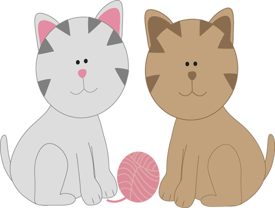 Clip art two one. Friends clipart cat