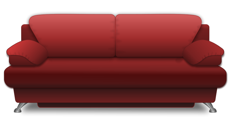 Friends couch free on. Clipboard clipart red