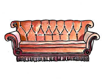 Clipart friends couch. Portal