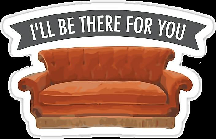 Ftestickers friendstvshow besttvshowever tvshow. Clipart friends couch
