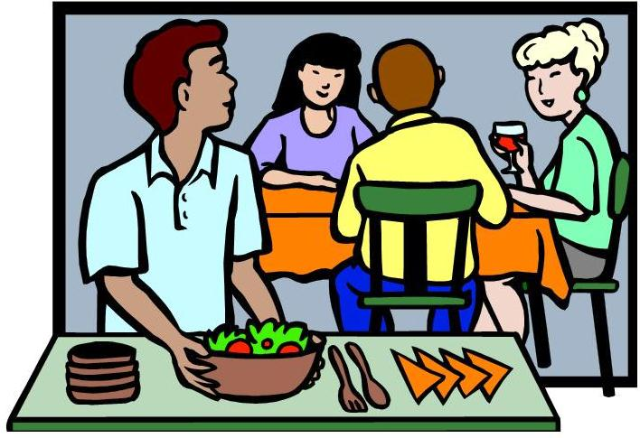 Free cliparts download clip. Friend clipart dinner