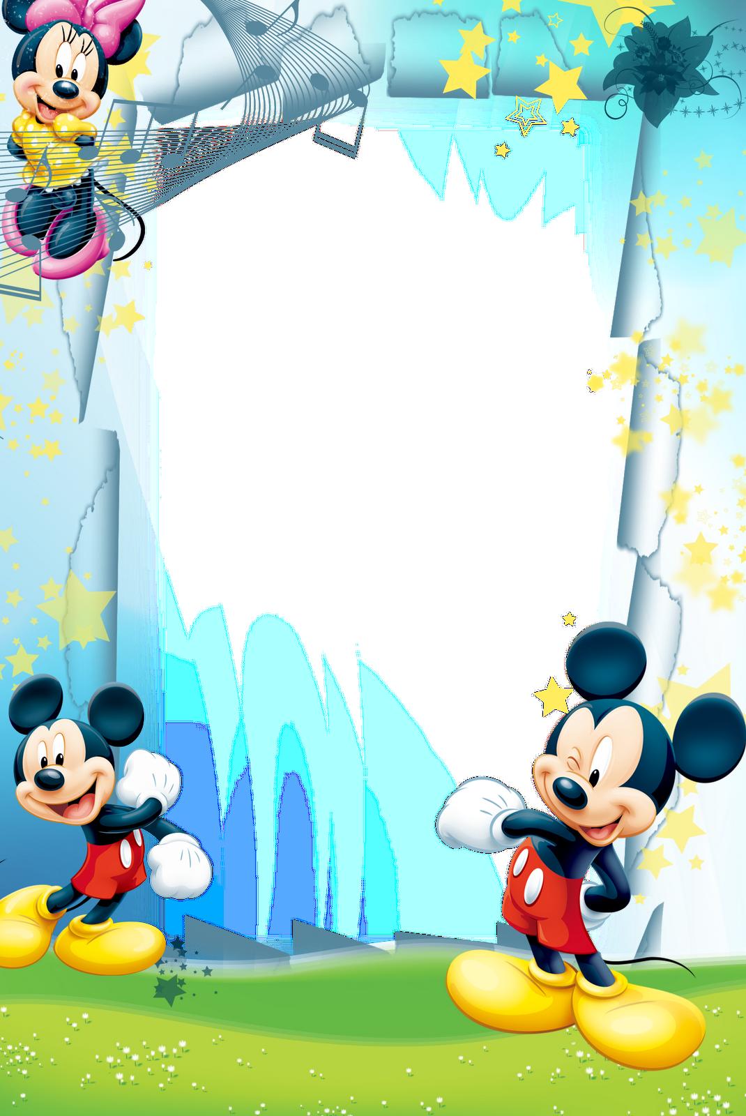 Photoshop frames infantil crafts. Mickey mouse frame png