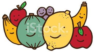 Group of fruit friends. Fruits clipart friend