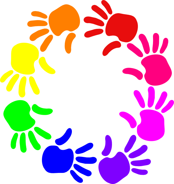 Of hands clip art. Handprint clipart circle