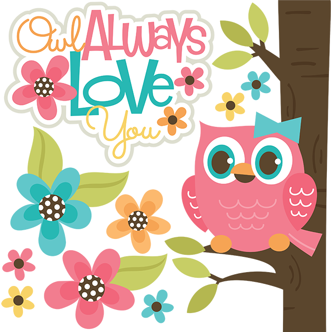 Friends clipart love you. Owl always svg files