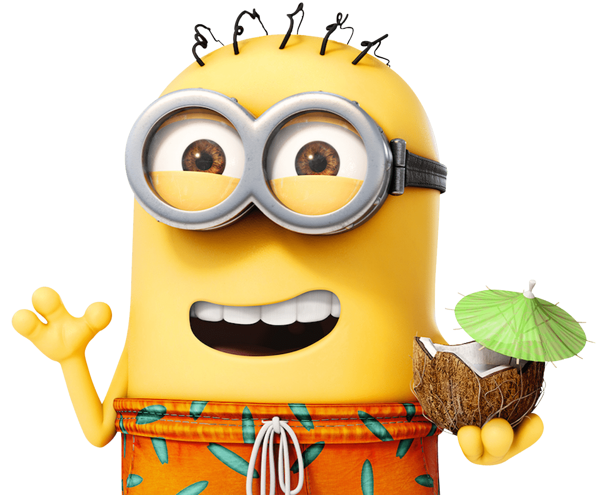 Minion on transparent stickpng. Holiday images png