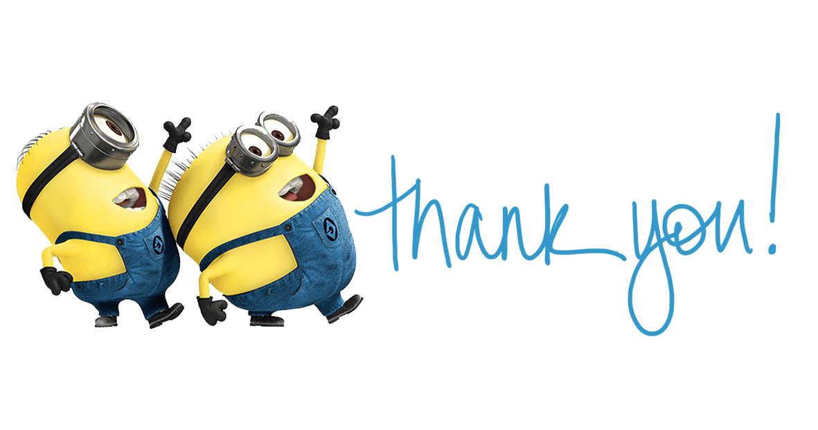 Minions transparent stickpng. Thank you png images