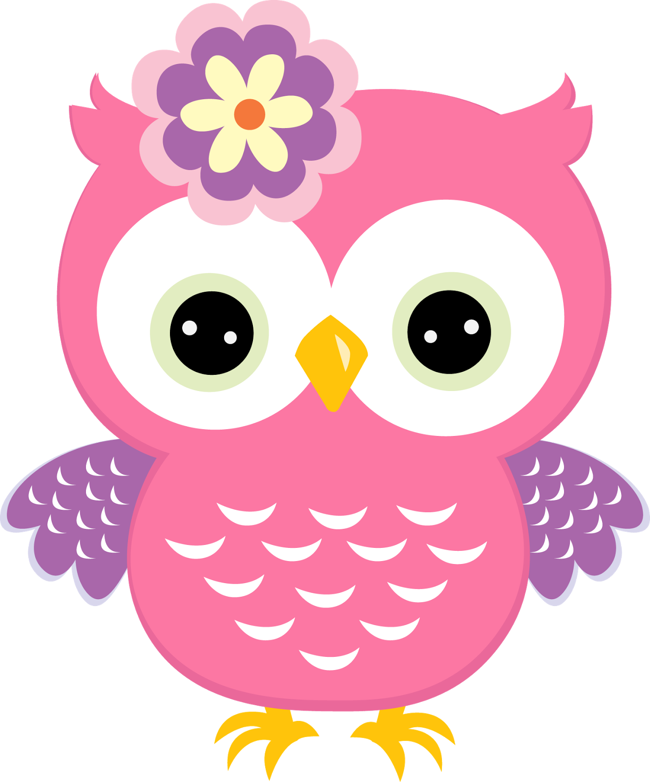 De b hos colores. Showering clipart mom baby owl