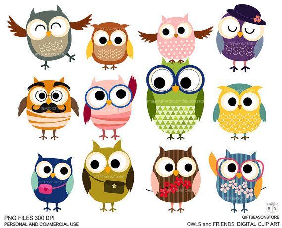Owls clipart friend. And friends digital clip